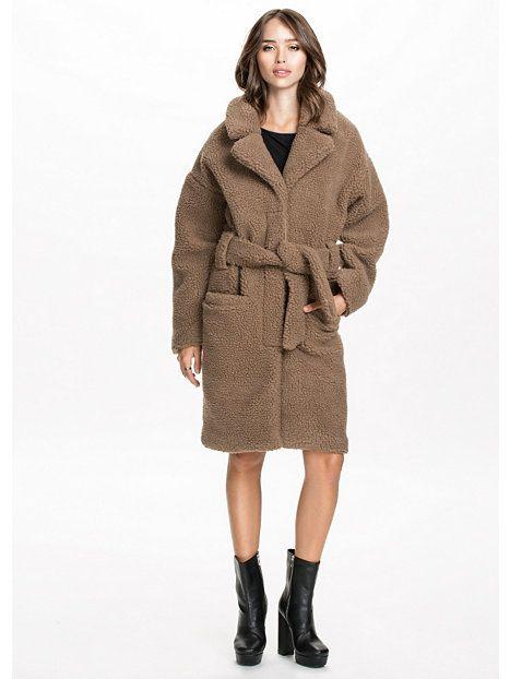 Bruine Teddy Jas.Teddy Long Coat Nelly Fashion Wishlist Fashion Coat En Clothes