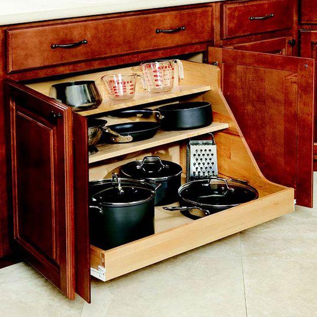 Attractive Kitchen Pan Storage Ideas Part - 5: 34 Insanely Smart DIY Kitchen Storage Ideas