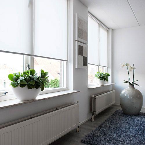 Kassettenrollo In Weiß Sonnenschutz Für Große Fenster