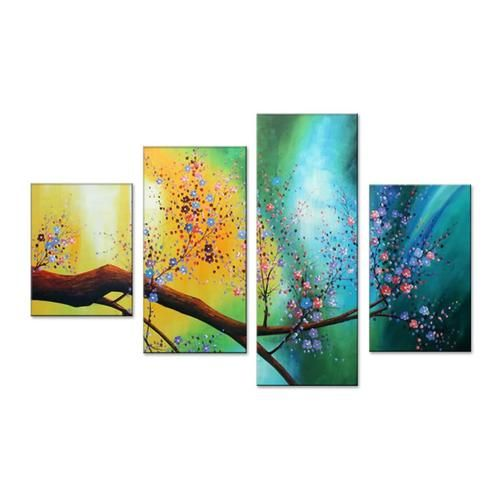 Canvas Oil Paintings Floral Canvas Oil Painting | 4 Piece | 359 - HYGGE ARTWORKS