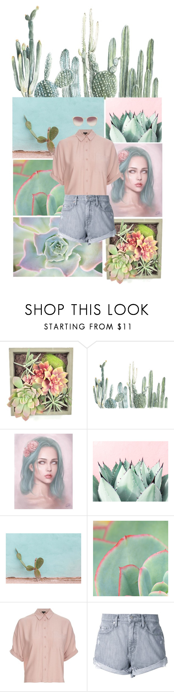 """""""You succ"""" by lies-and-roses ❤ liked on Polyvore featuring Gold Eagle, Topshop, Nobody Denim and Linda Farrow"""