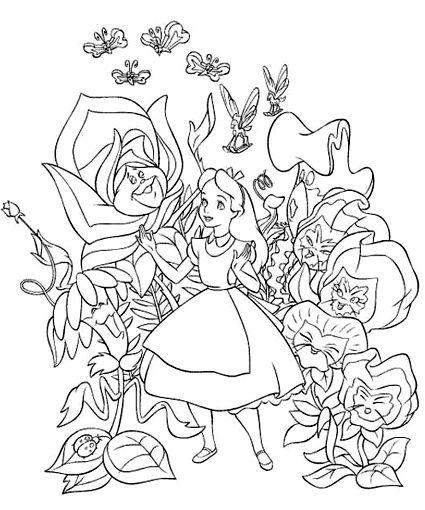 Dibujos para colorear - Disney | Coloriage | Pinterest | Alice ...