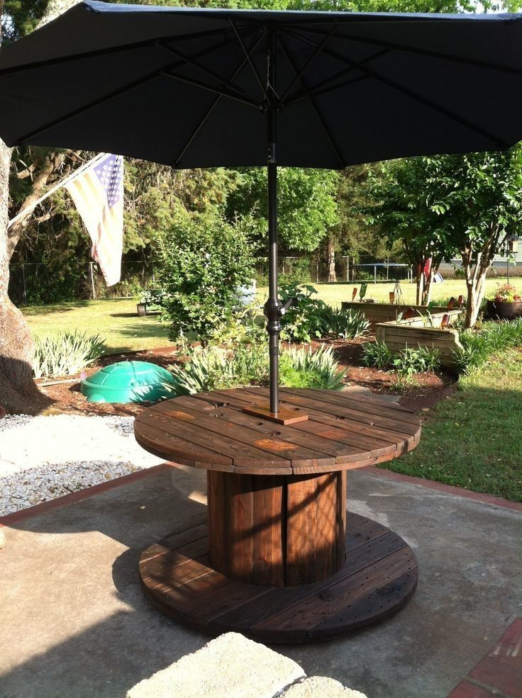 Spool Umbrella Table Pallet Furniture Outdoor Cable Spool