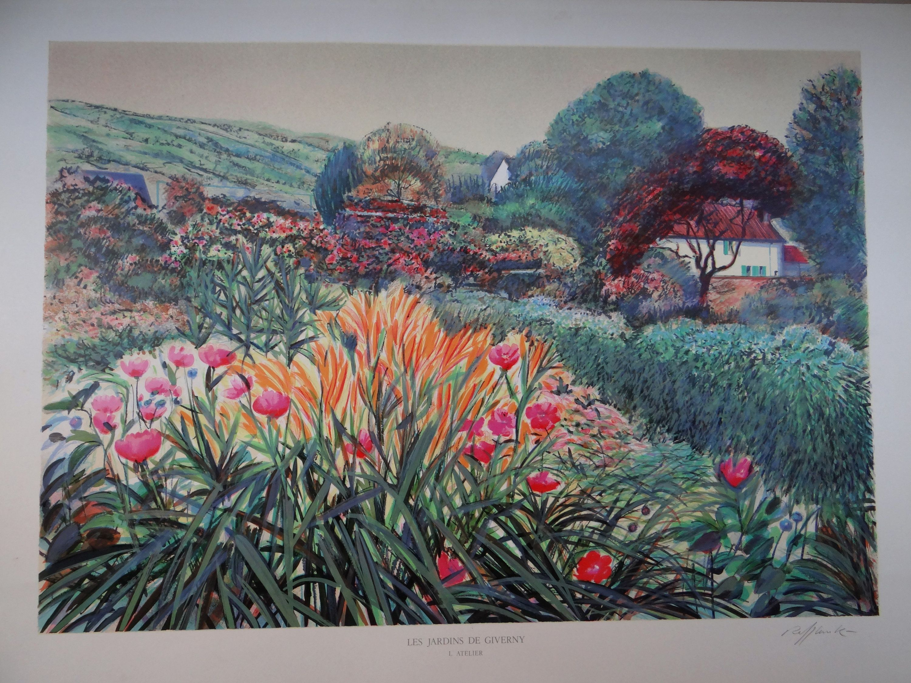 Art poster giverny gardens france giverny claude