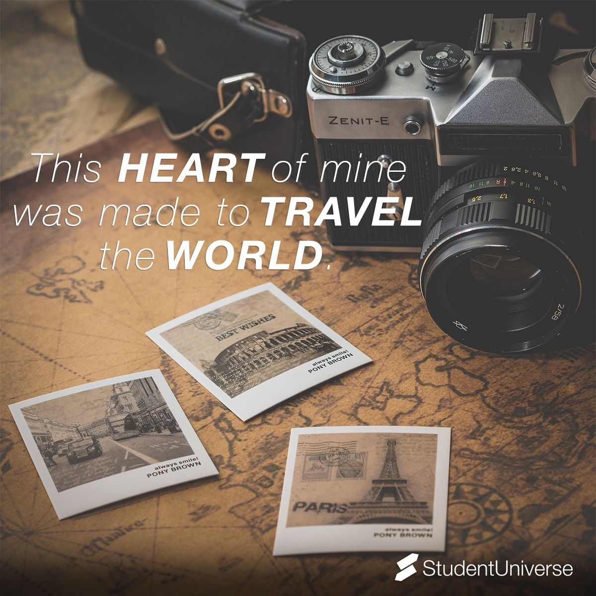 This heart of mine was made to travel the world. Student
