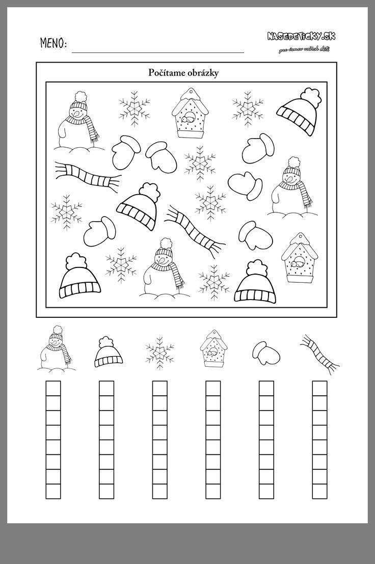 Winter, KindergartenActivitieswinter winter   Kindergarten mathe ...