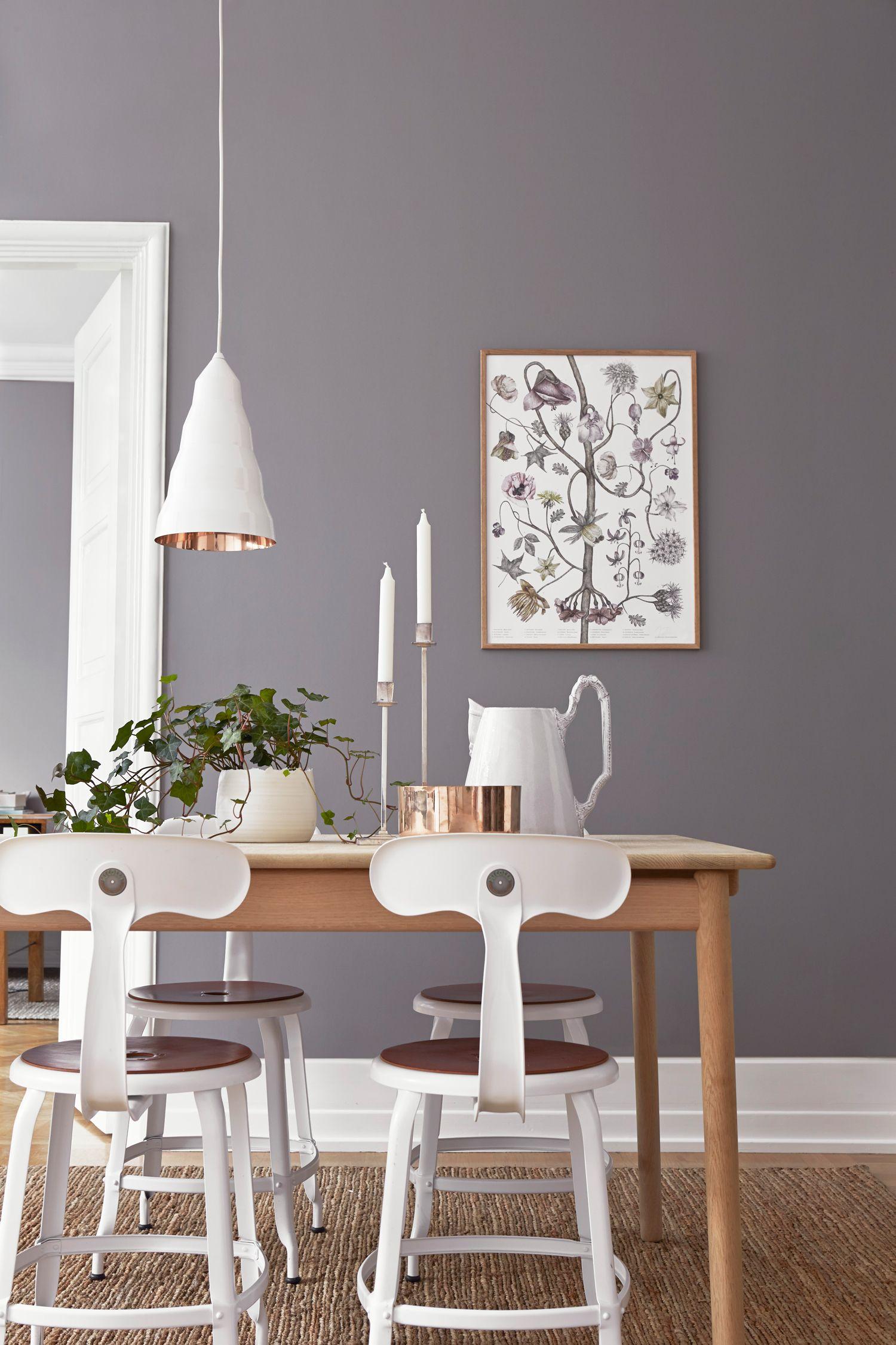 Wandfarbe Cappuccino grå tapet från boråstapeters kollektion pigment.   scandinavian