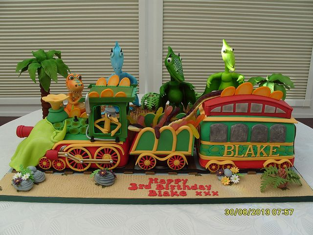 Pleasing Dinosaur Train Birthday Cake Dinosaur Train Party Train Funny Birthday Cards Online Alyptdamsfinfo
