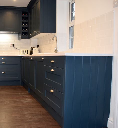 Best Cabinets Painted Hague Blue By Farrow Ball Kitchen 640 x 480