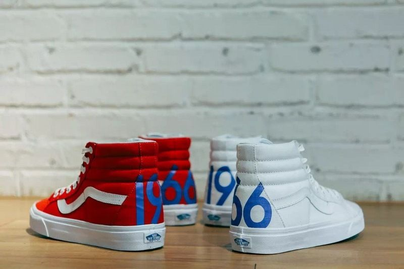 Vans Fans Sk8 Hi 1966 Limited Red and White High Help 36