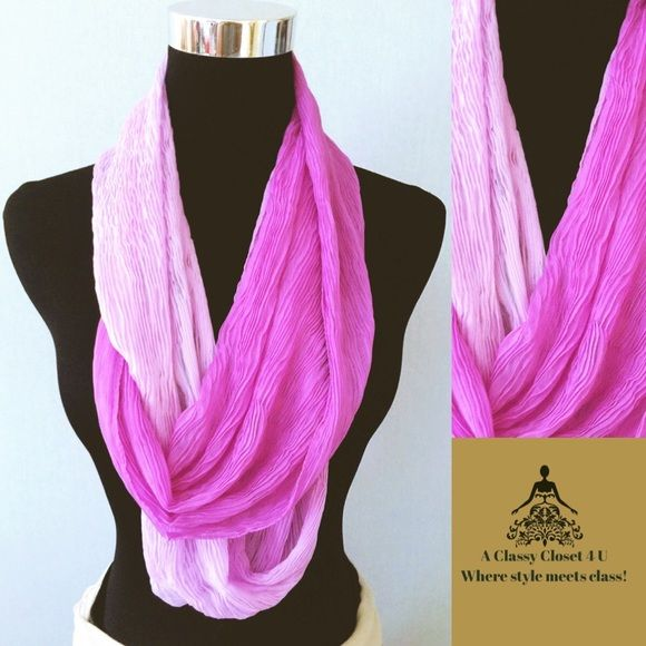 Ombré Infinity Scarf Vibrant scarf would look great with a solid sheath. ACC4U Accessories Scarves & Wraps