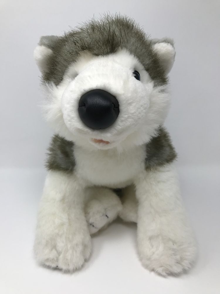 Build A Bear Stuffed Animal Toy Siberian Husky Dog Plush 15 Gray