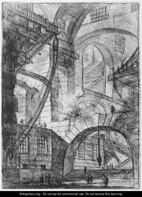 """""""Carceri d'Invenzione"""", Plate VI. (Imaginary Prisons, Plate VI), (1745 -...), by Giovanni Battista Piranesi."""
