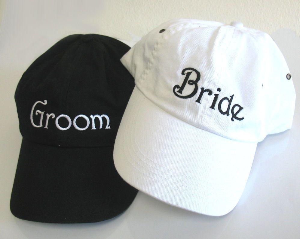 Embroidered Bride Cap Or Groom Cap Bride And Groom Baseball Caps Bride Hats Bride Caps Groom Caps Groom Hats Bride Hat Groom Hat Groom