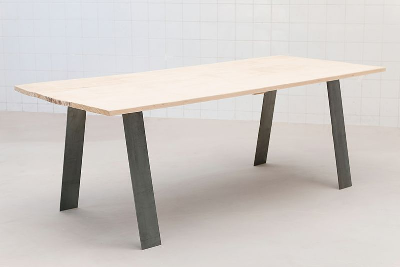 Pieddetablemetaldeco Industriel Loft Maison Pinterest - Table pied metal plateau chene pour idees de deco de cuisine