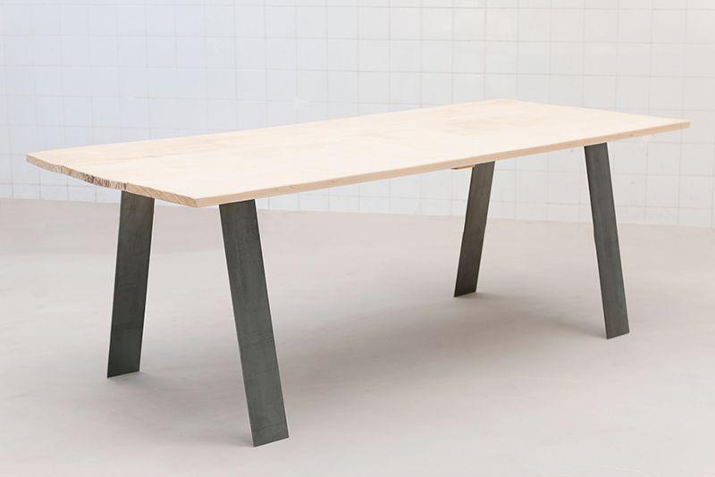 Pied De Table Metal Deco Industriel Loft Table Massive