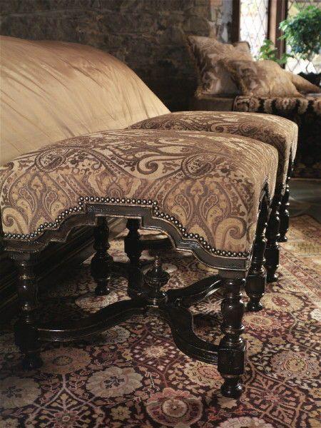 Marge Carson Bedroom Westchester Bench Ws48 Boyles Furniture Mocksville Nc