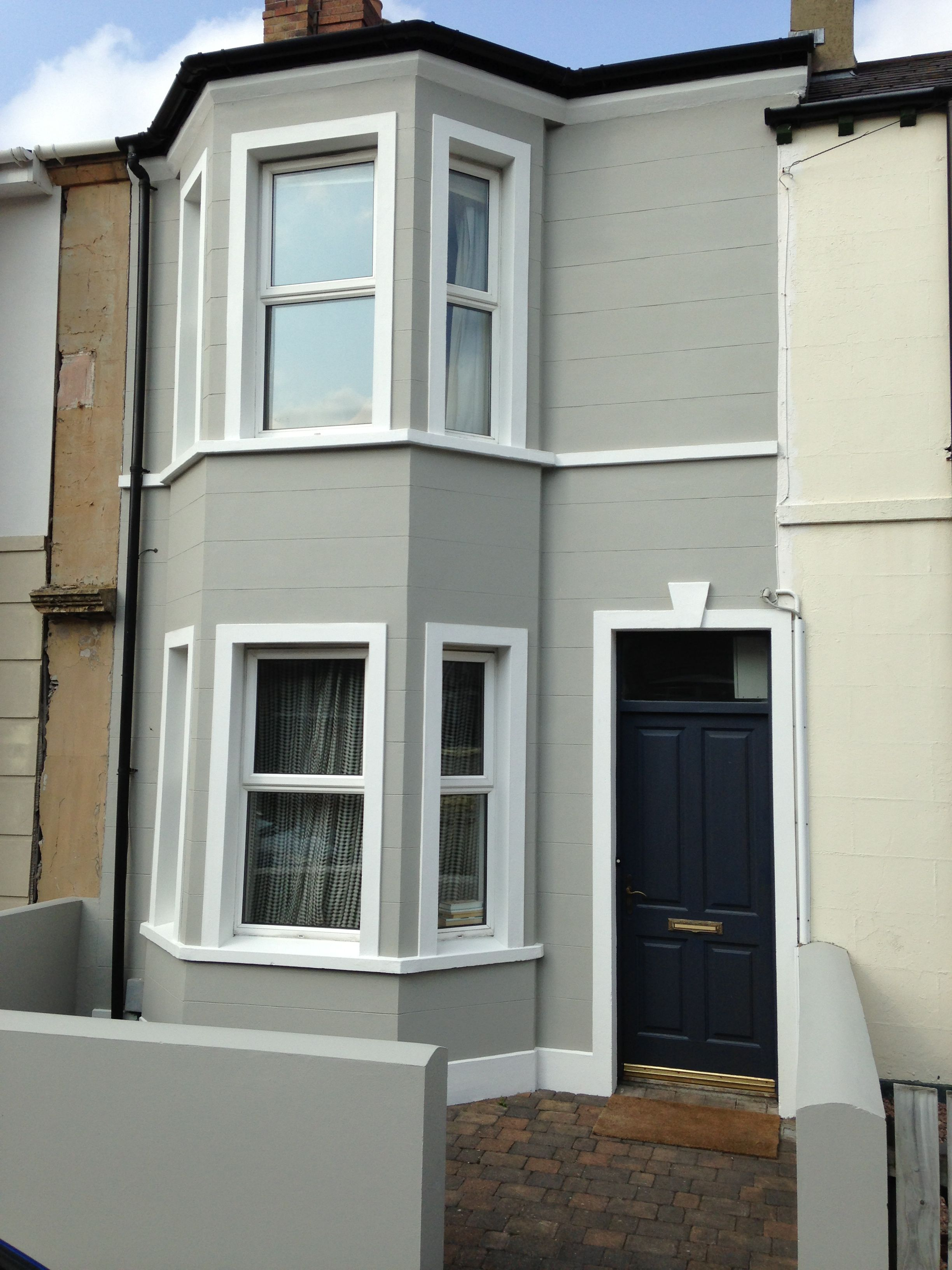 Victorian chic in the heart of holywood colours are Modern white front door