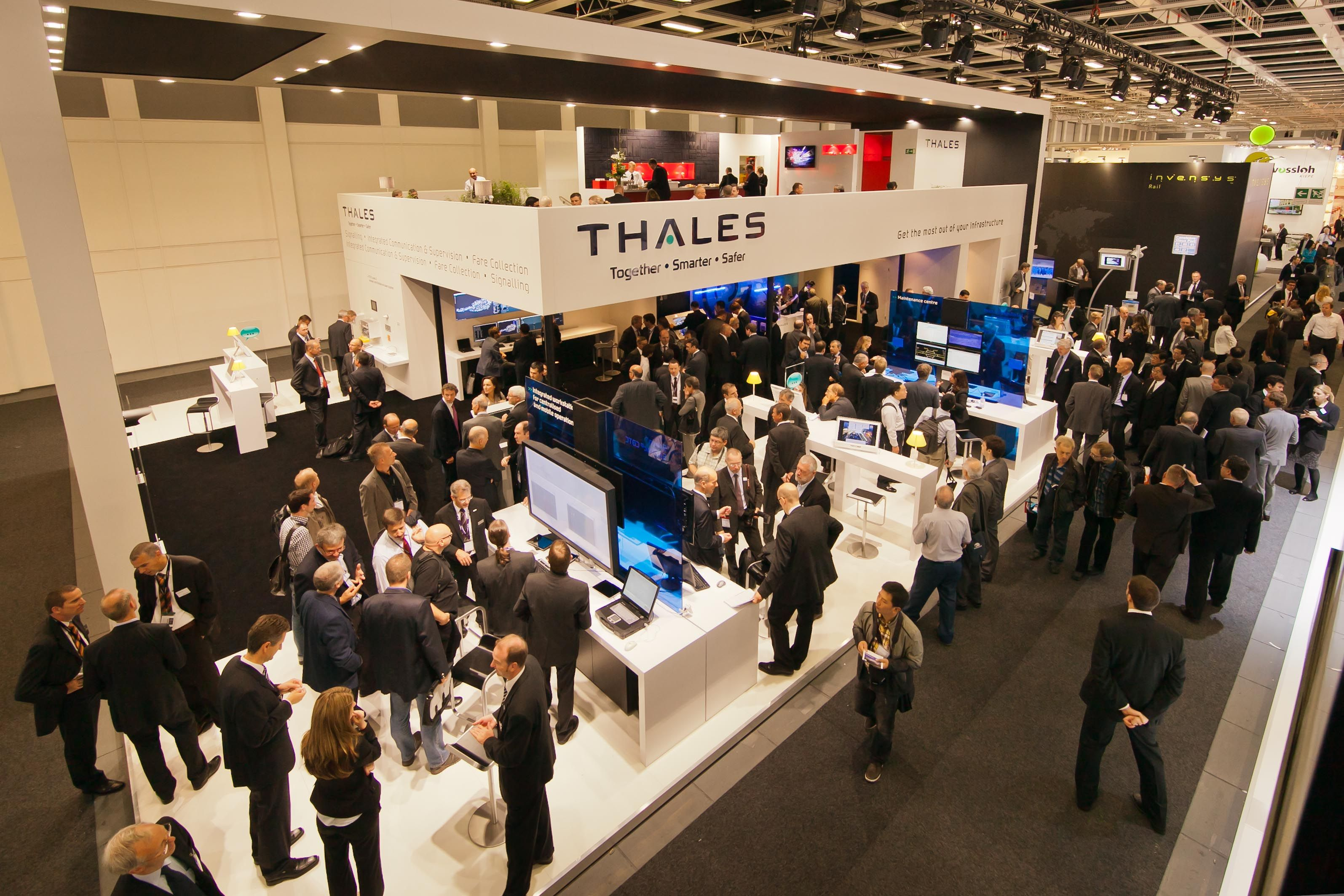 Many People Visiting Thales Stand At Innotrans 2012