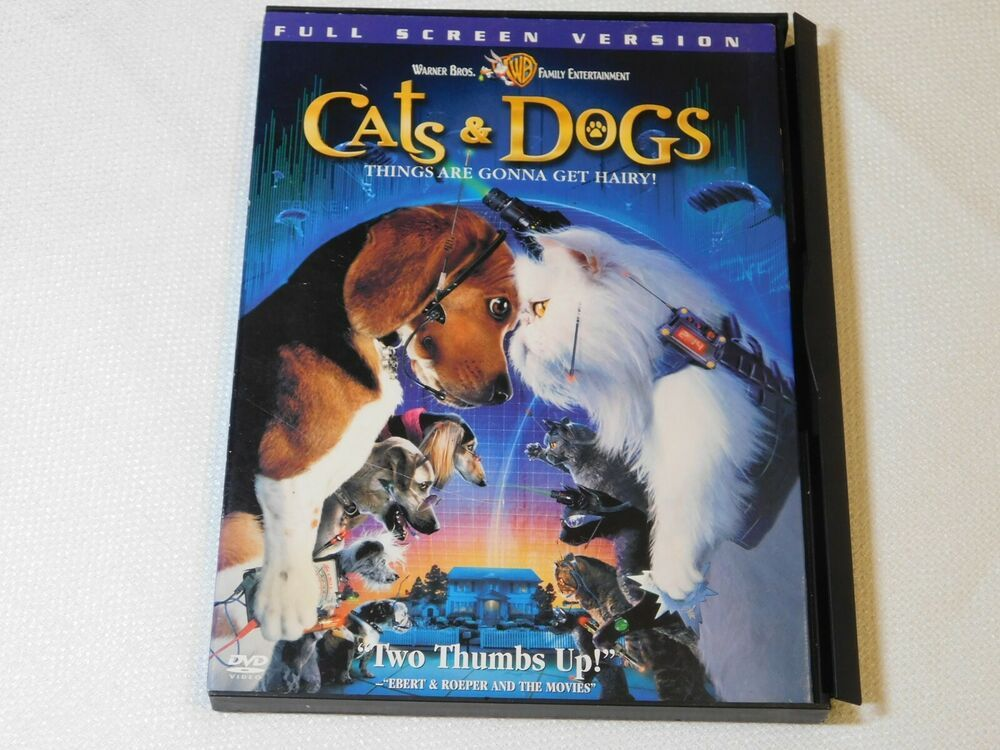 Cats Dogs Dvd 2001 Full Frame Version Rated Pg Comedy Jeff Goldblum Cats Dogs Old English Sheepdog