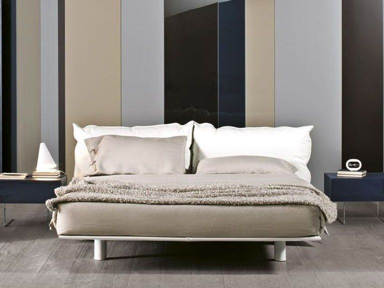 Double bed with upholstered headboard KUSSIN by Lago