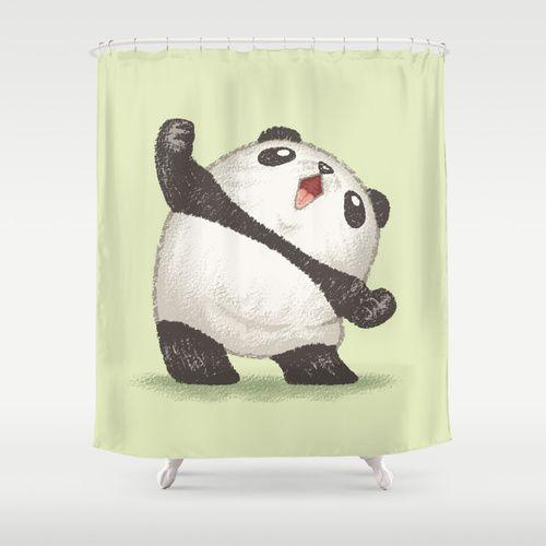 Panda Shower Curtain Summer Home Decor Panda Curtains