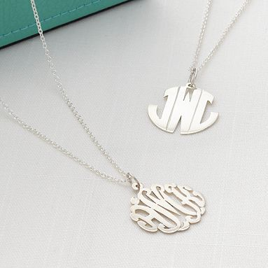 Love monogram necklaces!