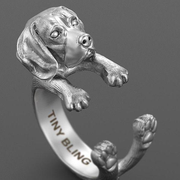 Beagle Jewelry Cuddle Wrap Ring Beagle Beagle Dog Dog Jewelry