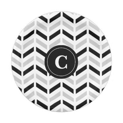 Personalized Black u0026 White Chevron Paper plates - black and white gifts unique special bu0026w  sc 1 st  Pinterest & Personalized Black u0026 White Chevron: Paper plates - black and white ...