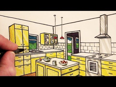 How To Draw A Room In Two Point Perspective Narrated