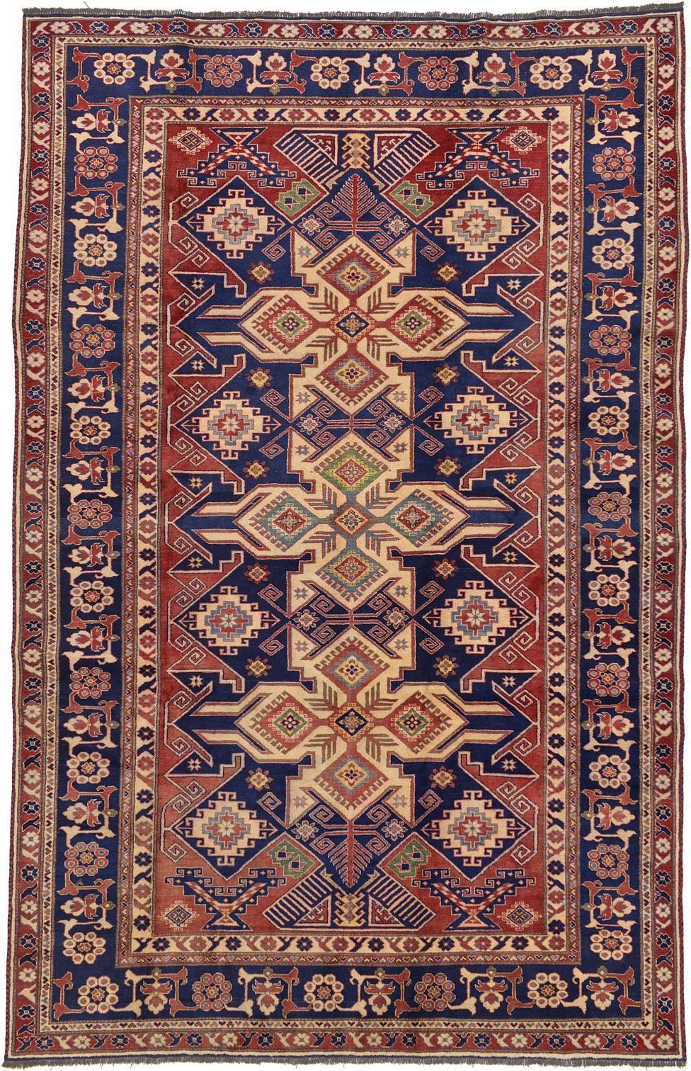 Red 7 4 X 11 5 Kazak Oriental Rug Oriental Rugs Esalerugs