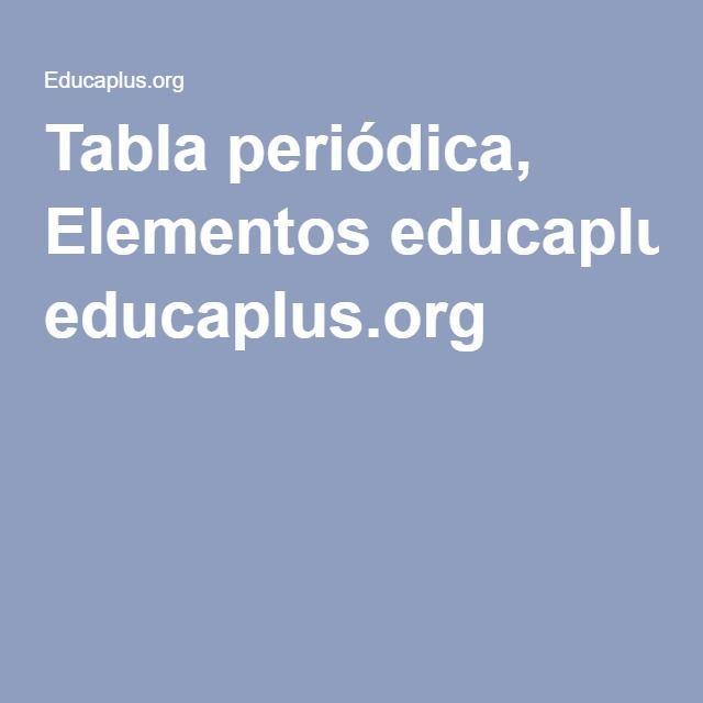 Tabla peridica elementos educaplus recursos fsica y qumica tabla peridica elementos educaplus urtaz Choice Image