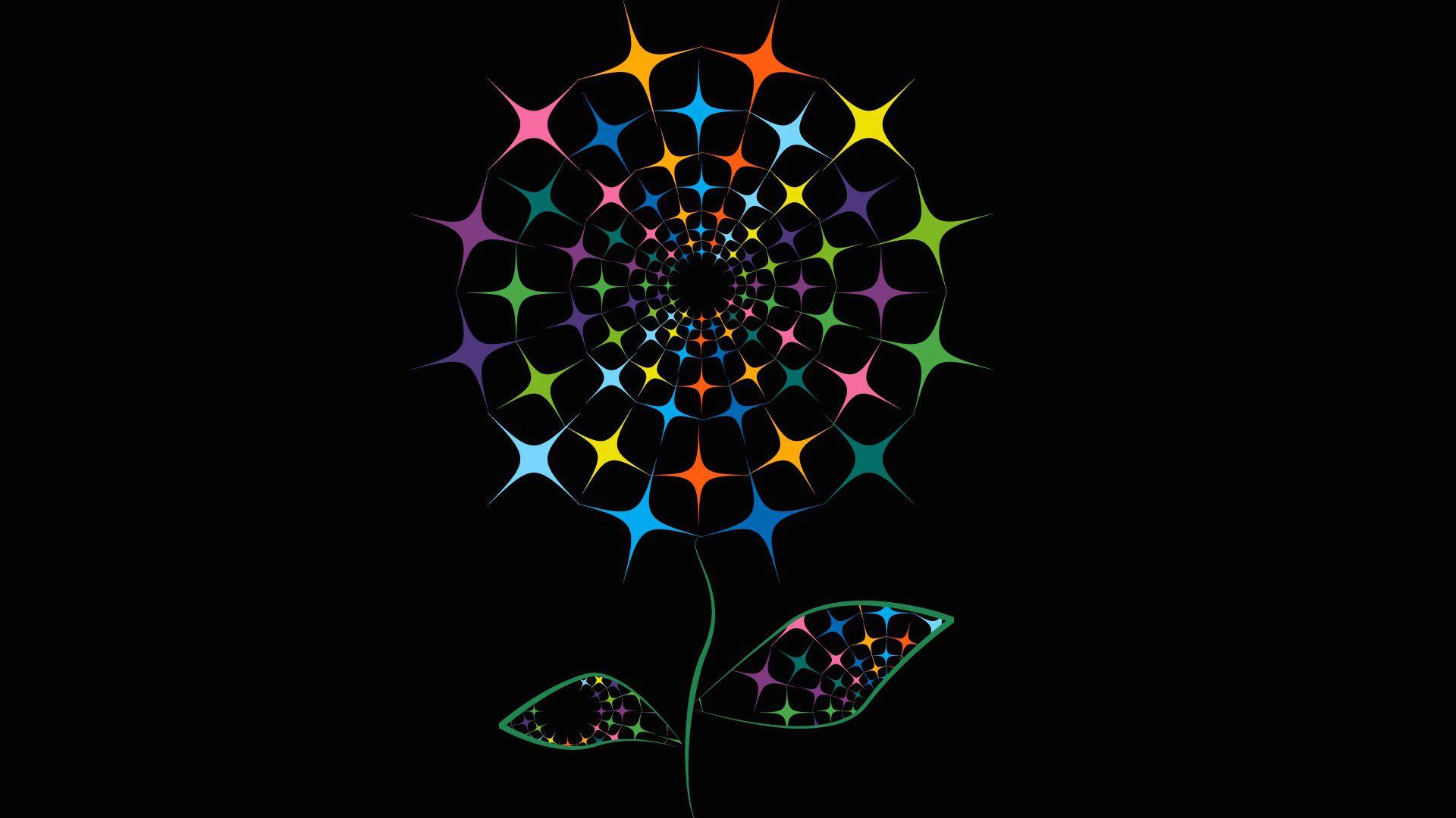 Скачать обои цветок, краски, линии, фон, раздел абстракции ...
