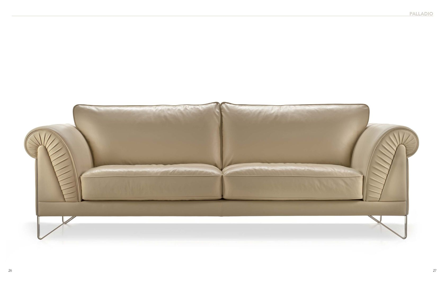 Leather Sofa Seats Designs Cream Leather Sofa By Nicoline. | Nicoline Italian