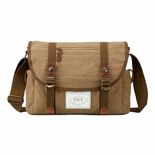 70916fc6ba OXA Military Vintage Practical Canvas Messenger Bag Laptop Bag Bookbag Satchel  Crossbody Bag Shoulder Sling Bag
