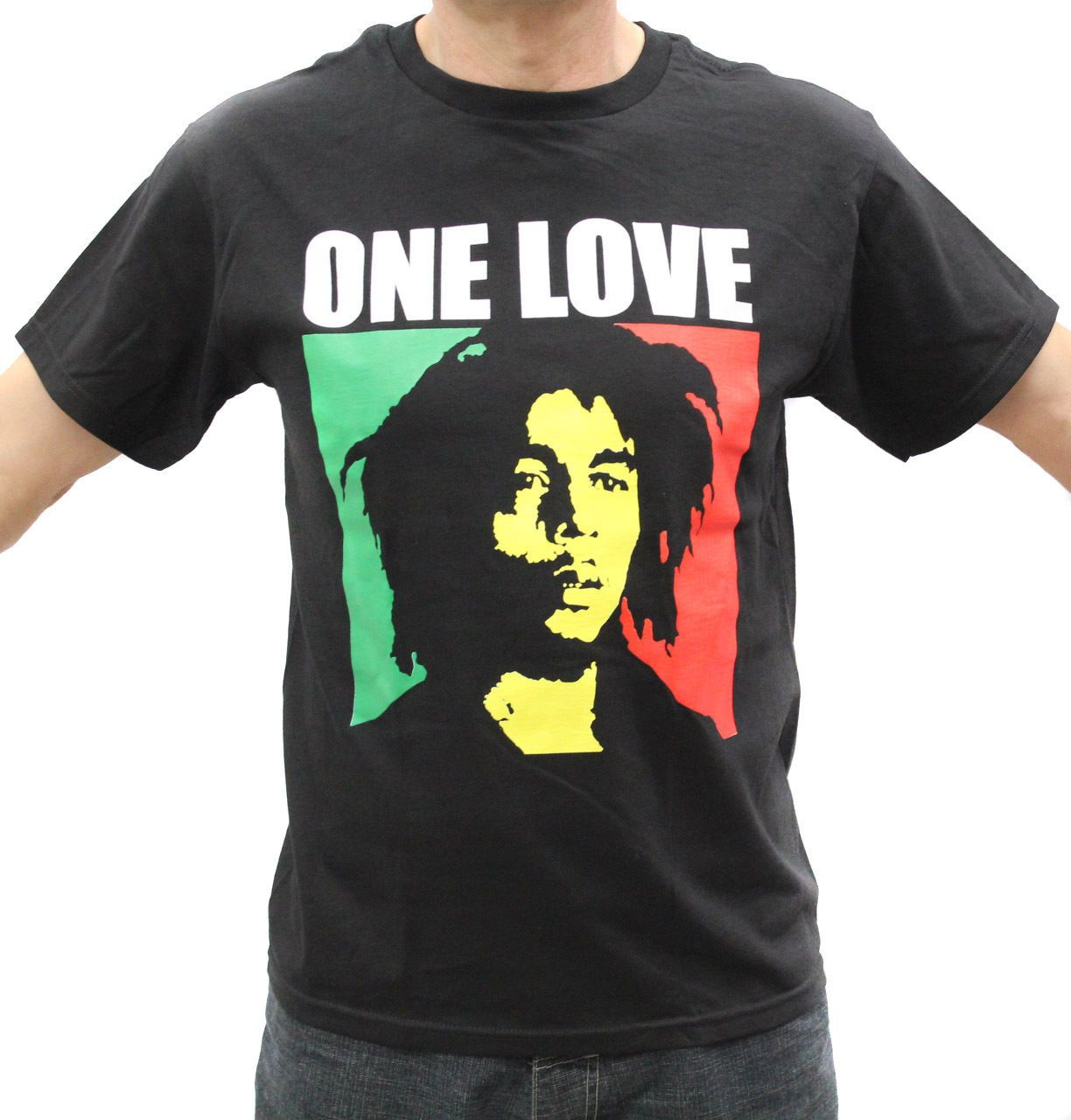 8222e4efff7871 Bob Marley One Love Rasta Graphic T-Shirts