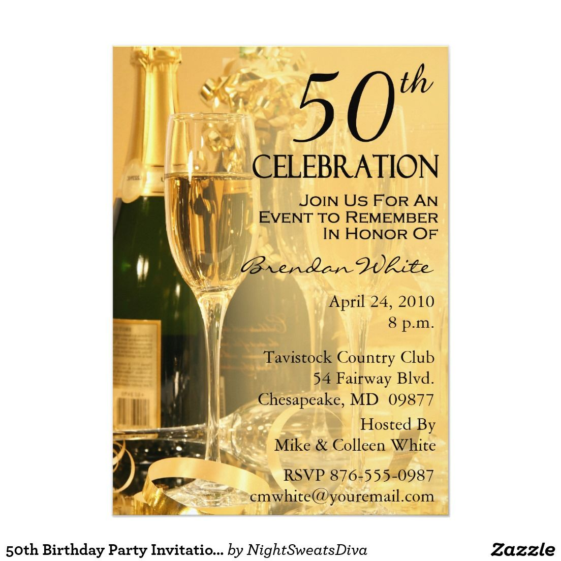 50th Birthday Party Invitations Birthday Party Invitations