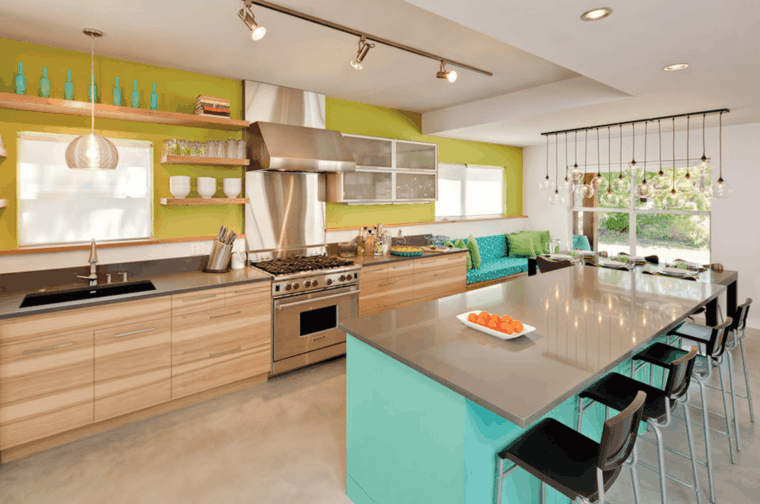 #Küche Küchenfarbe: Trends In 25 Modernen Ideen #Küchenfarbe: #Trends #in
