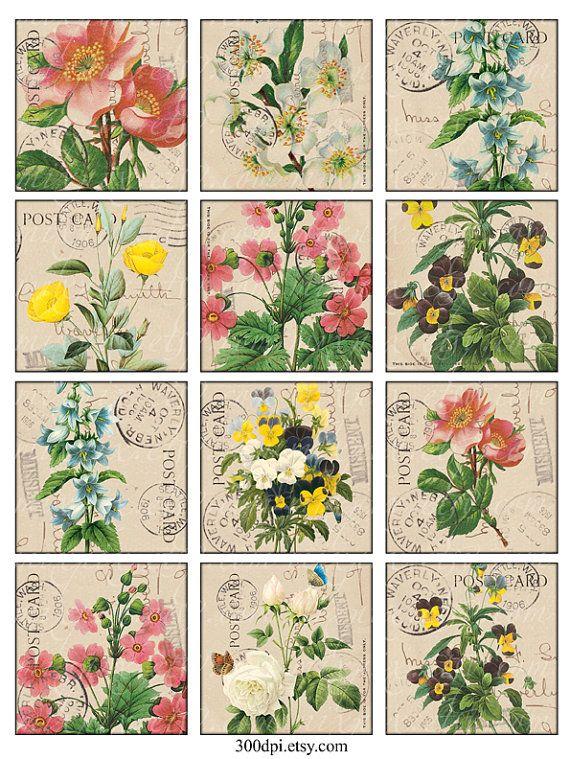Vintage Printable Tags Digital Collage Sheet large by 300dpi