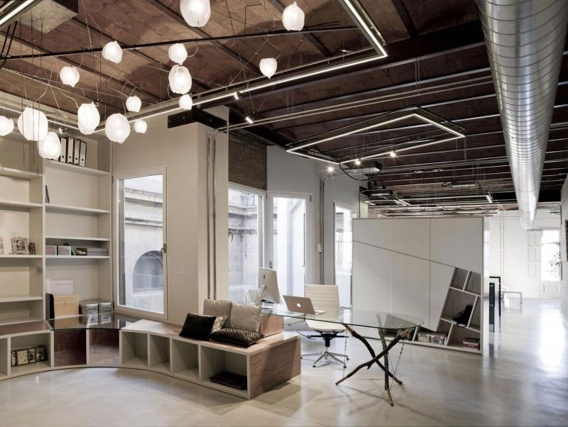 industrial style office. Interiors Industrial Style Office