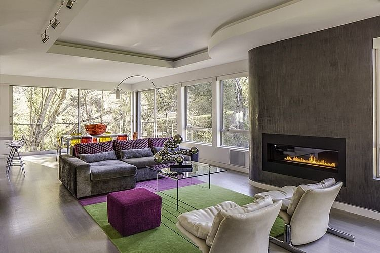 Portola Valley House by Mark Brand Architecture Etnoart-Cafe - kleine wohnzimmer modern