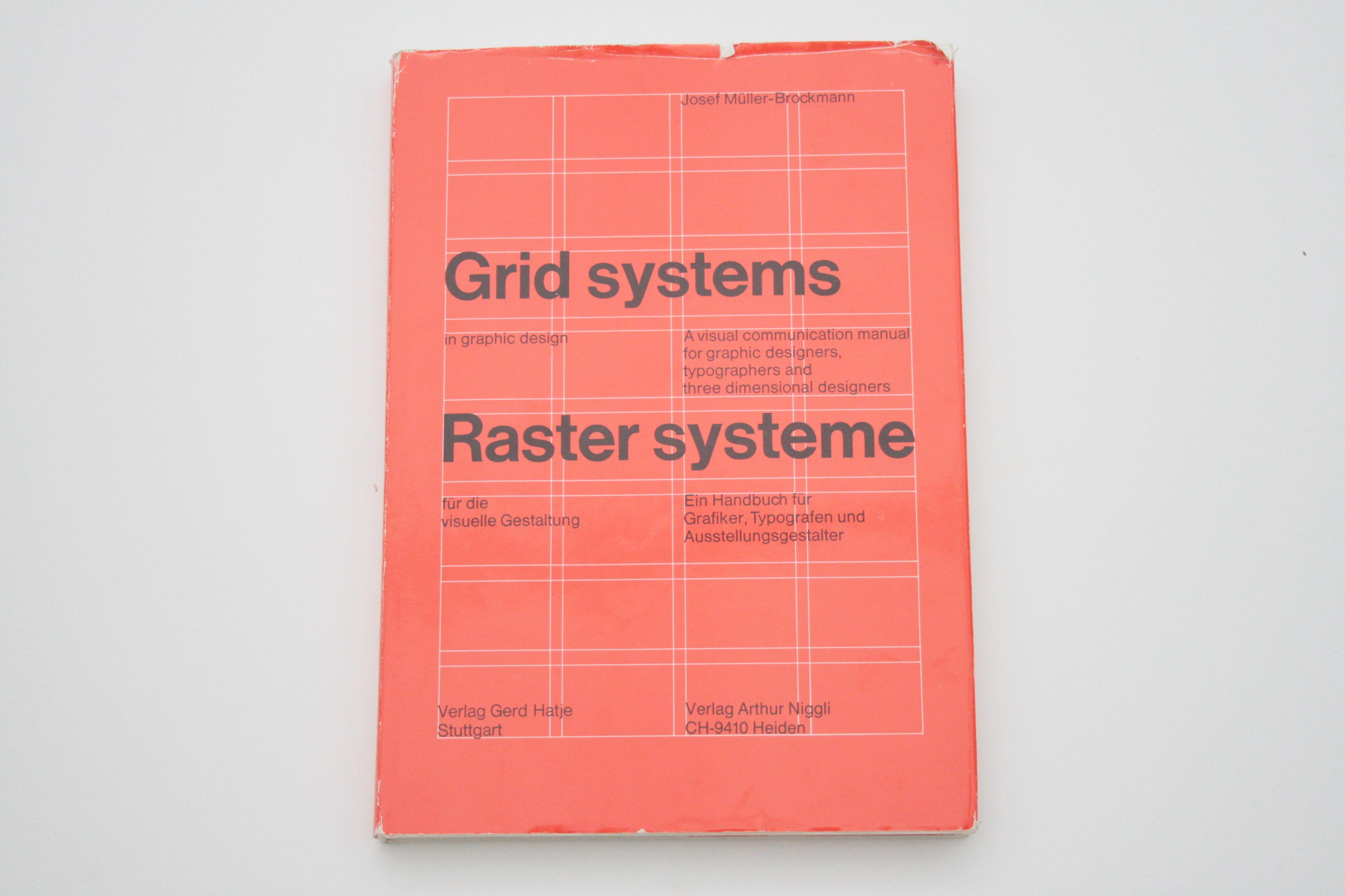 Grid System In Graphic Design J Muller Brockmann 1968 Niggli Verlag Grid System Graphic Design Book Design