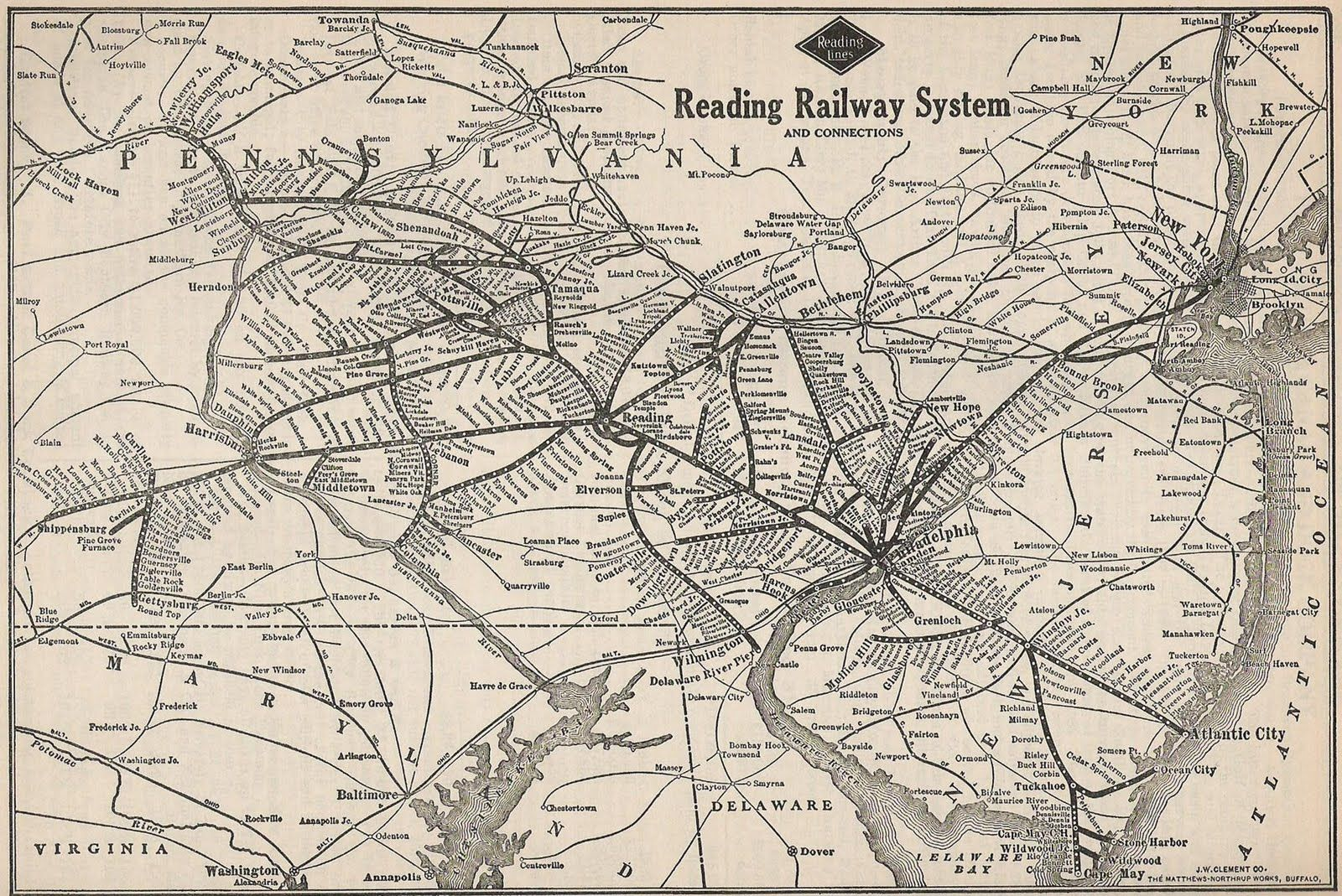 Reading Railroad map PEOTMM TOUR