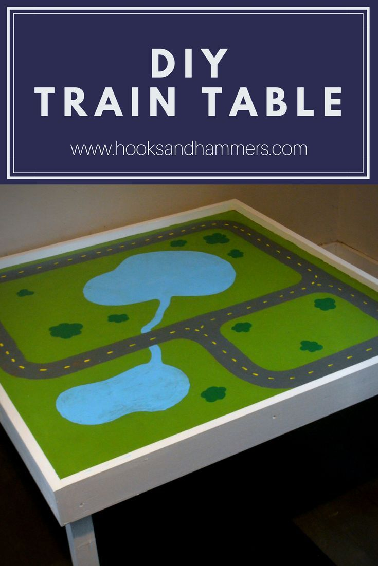 DIY Train Table With Free Plans | Train table, Craft table ...