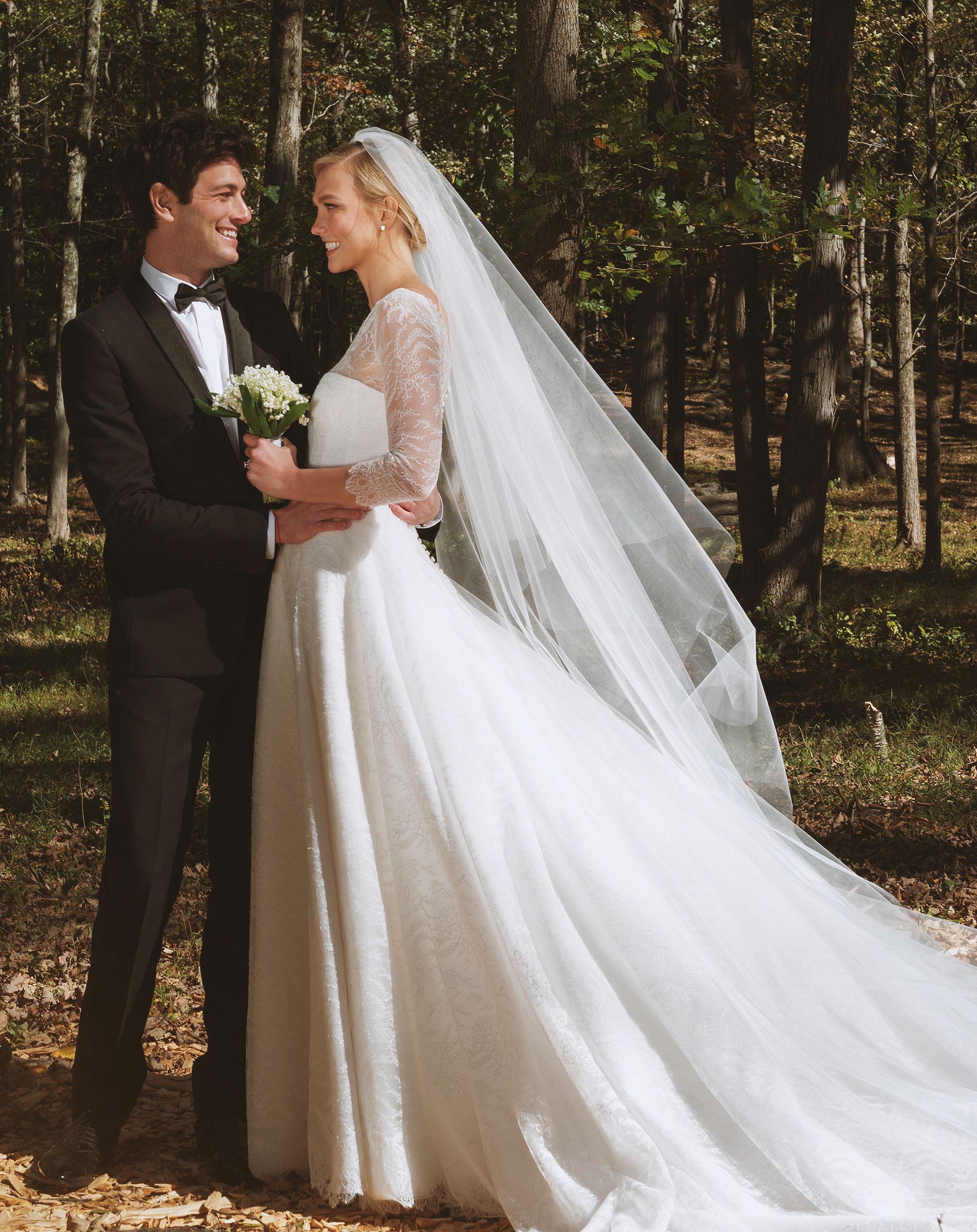 Karlie Kloss Is Married Supermodel Weds Joshua Kushner In Custom Dior Gown Dior Wedding Dresses Wedding Dresses Celebrity Bride
