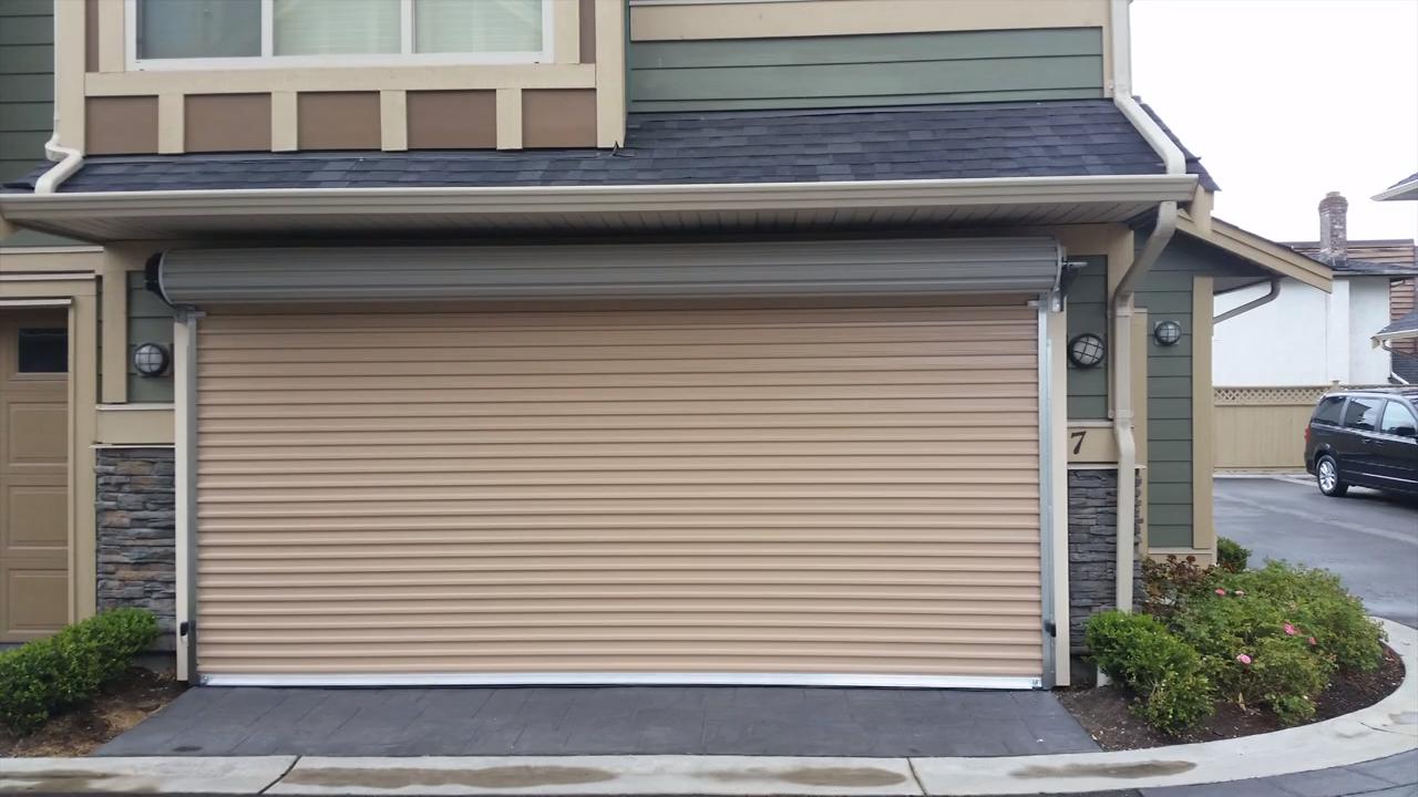 Roll Up Door By Smart Garage Video Roll Up Garage Door Commercial Garage Doors Residential Garage Doors