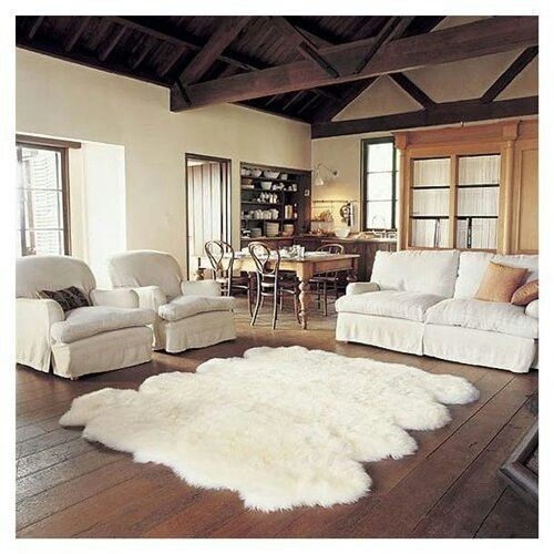 Large Faux Sheepskin Rug With Images Rugs In Living Room