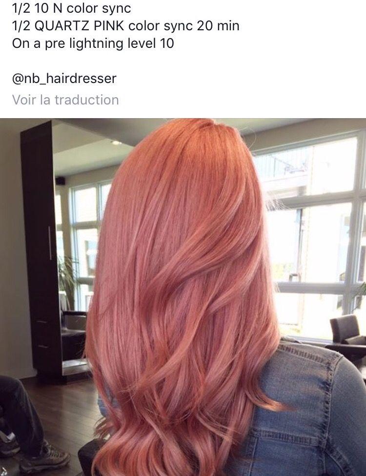 Redken Rose Gold Formula With Images Hair Color Formulas