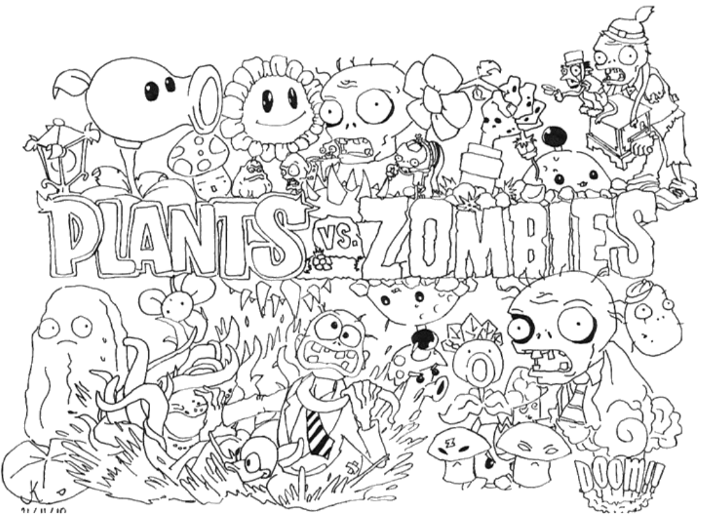 Coloring Rocks Plant Zombie Coloring Pages Coloring Pages For Kids