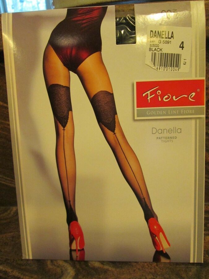 Fiore Designer Fresia Quality Fashionable Patterned Tights 20 Denier